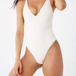 ribbed one piece bikini